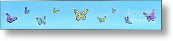 Butterfly Sky Metal Print