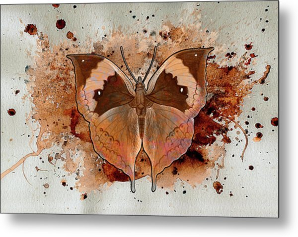 Butterfly Splash Metal Print