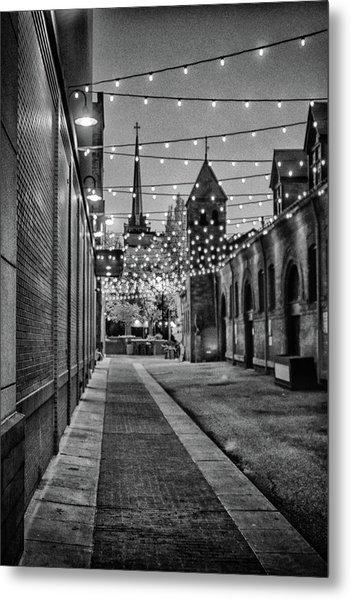 Bw City Lights Metal Print