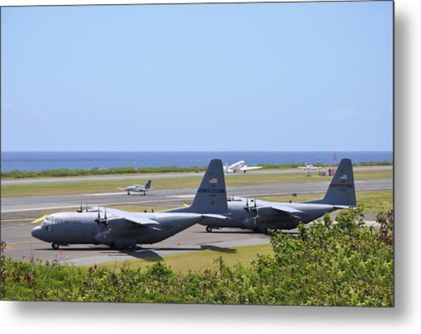 C130h At Rest Metal Print