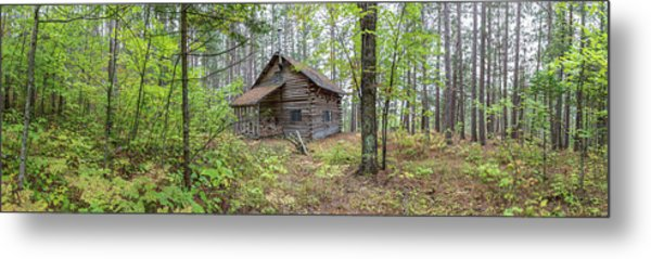Metal Print featuring the photograph Cabin In The Forest by Pierre Leclerc Photography