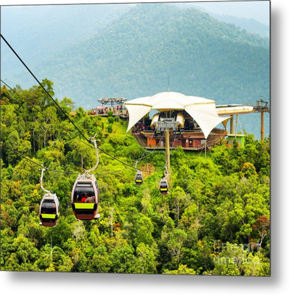 Cable Car On Langkawi Island, Malaysia Metal Print by Efired