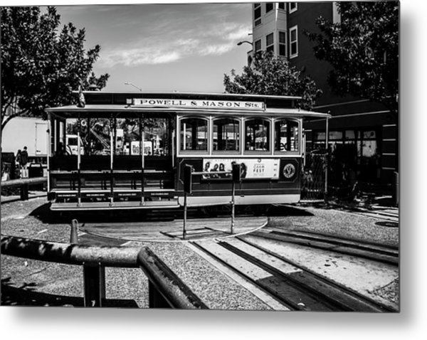 Cable Car Turn Around Metal Print