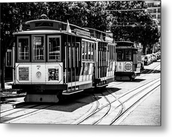 Cable Cars Metal Print