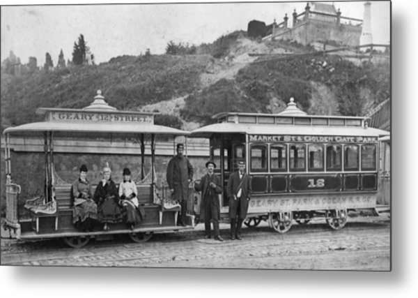 Cable Street Car Metal Print by Taber Photo San Francisco