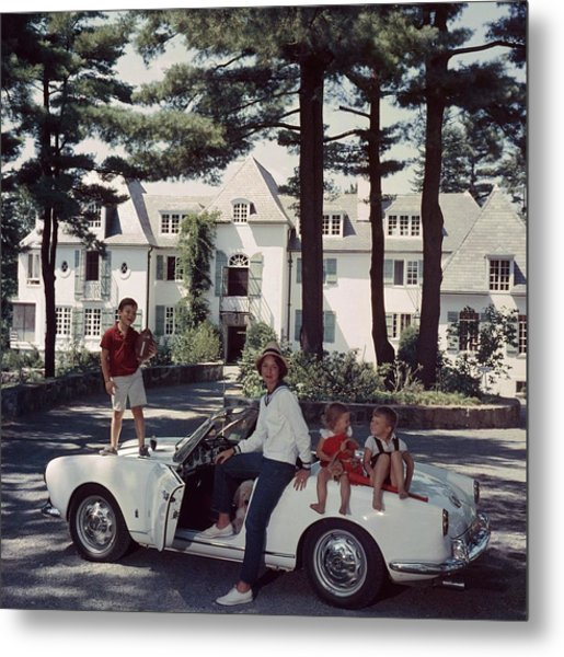 Cabot Family Metal Print by Slim Aarons