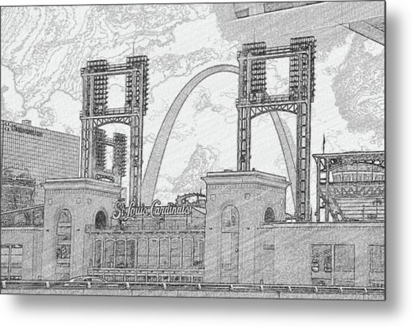 Cadinals Gateway Metal Print