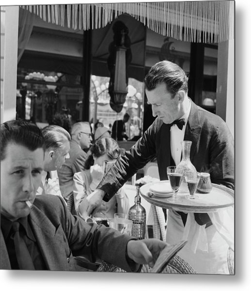 Cafe Culture Metal Print by Bert Hardy