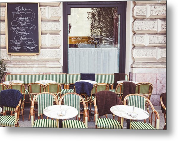Cafe In Budapest Metal Print