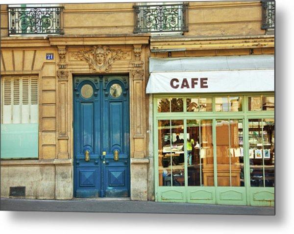 Cafe In Paris Metal Print