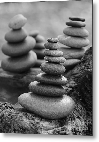 Cairn Gathering Metal Print