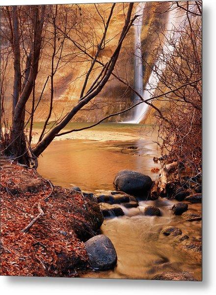 Calf Creek Falls 3 Metal Print by Leland D Howard