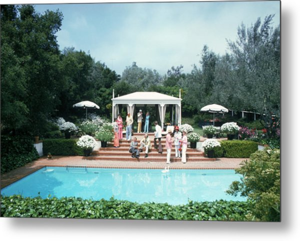 California Pool Party Metal Print