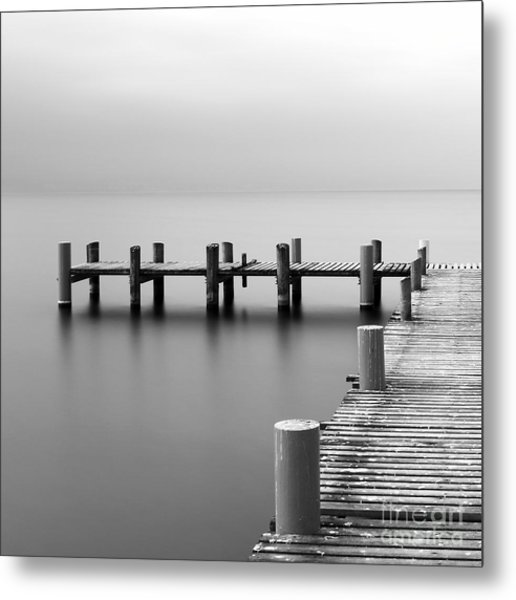 Calm Scene In Black And White With Metal Print