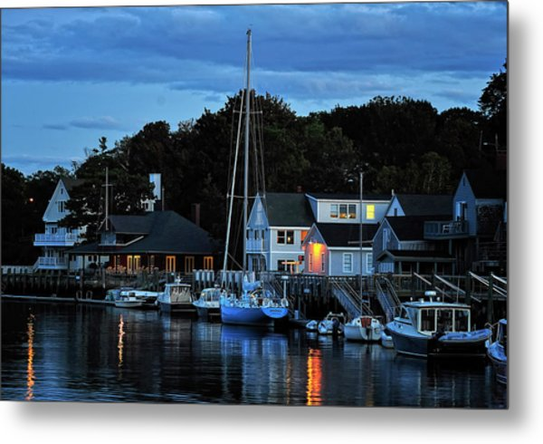 Camden Maine Twightlight Metal Print