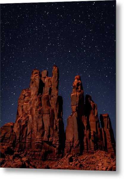 Camel Butte Under The Night Sky Metal Print