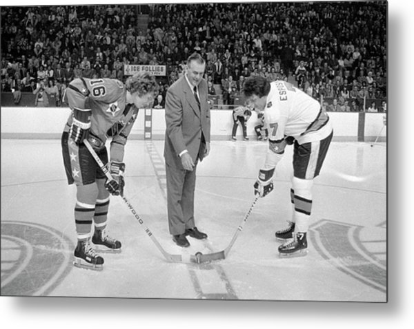 Campbell Conference V Wales Conference Metal Print by Denis Brodeur
