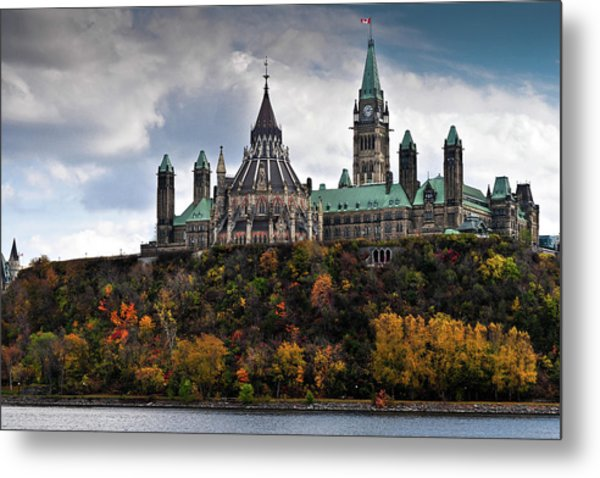 Canadian Parliament Buildings Metal Print