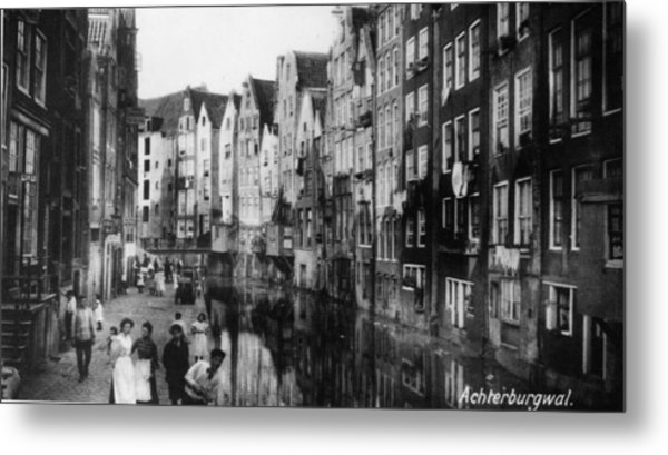 Canalside Houses Metal Print by Hulton Archive