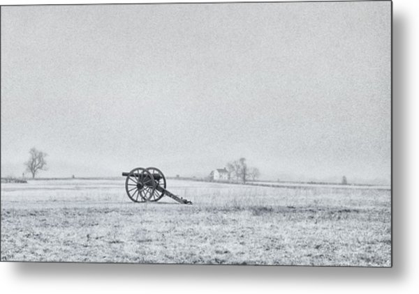 Cannon Out In The Field Metal Print