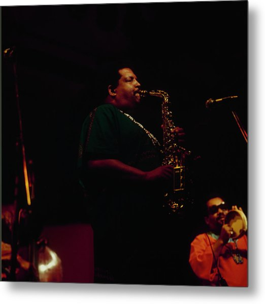 Cannonball Adderley Performs At Newport Metal Print by David Redfern