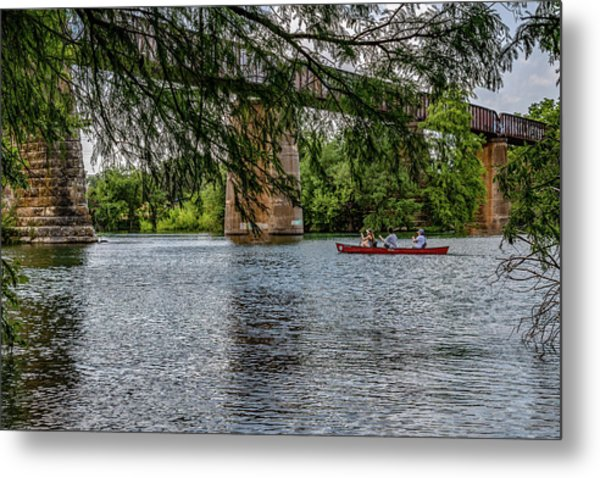 Canoeing Lady Bird Lake Metal Print