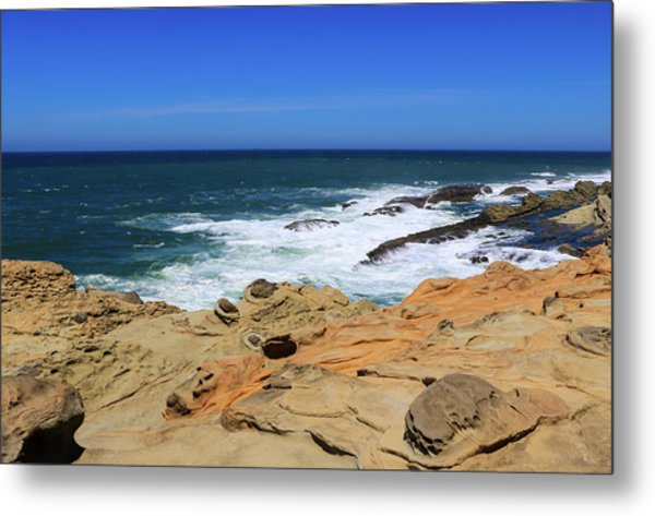 Metal Print featuring the photograph Cape Arago Coast 6 by Dawn Richards