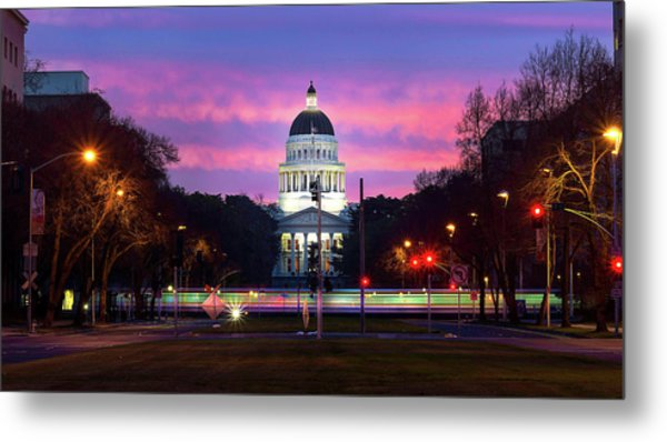 Capital Sunrise Metal Print