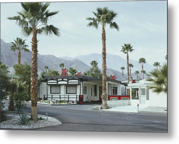 Capotes House Metal Print by Slim Aarons