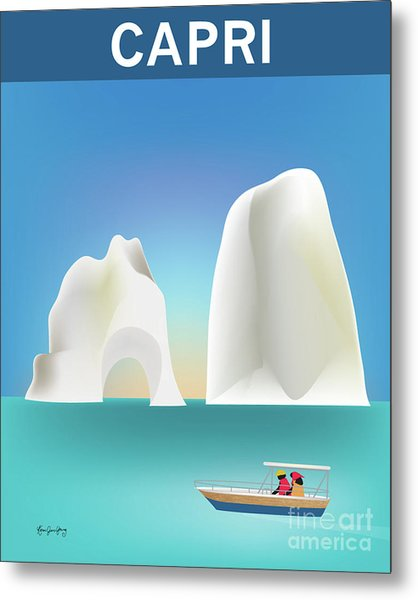 Capri, Italy, Vertical Skyline Metal Print