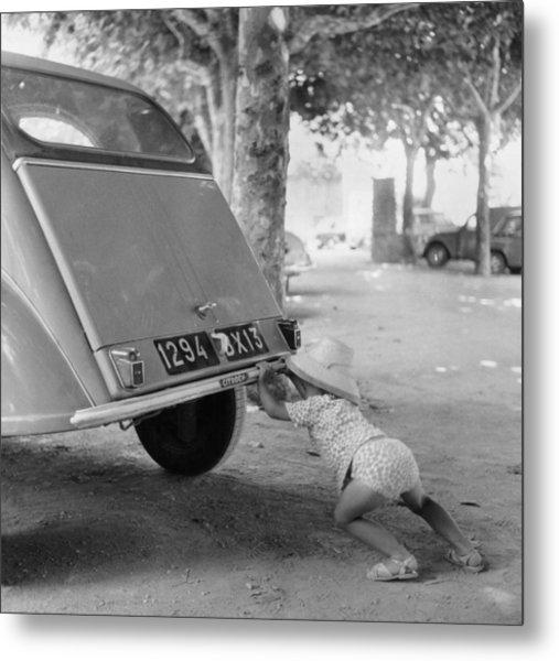Car Break-down 1964 Metal Print