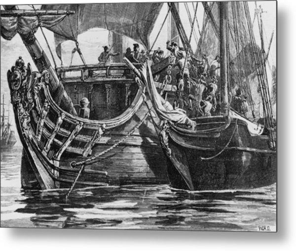 Caribbean Pirate Metal Print by Hulton Archive
