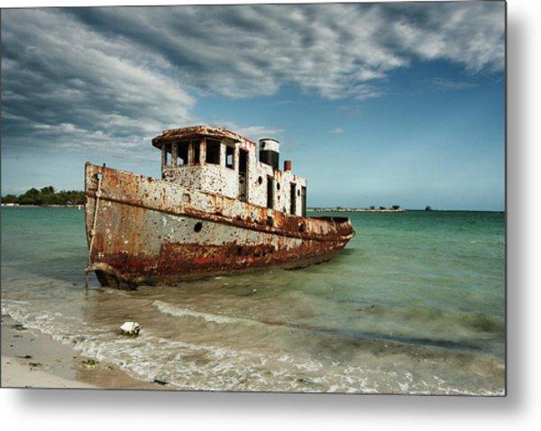 Caribbean Shipwreck 21002 Metal Print