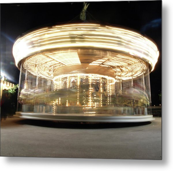 Metal Print featuring the photograph Carousel  by Edward Lee