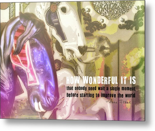 Carousel Gallop Quote Metal Print by JAMART Photography