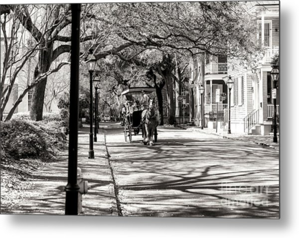 Carriage Ride Through Charleston Metal Print