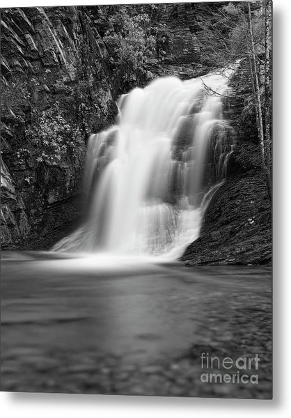 Metal Print featuring the photograph Cascade 1 Bw by Patrick M Lynch