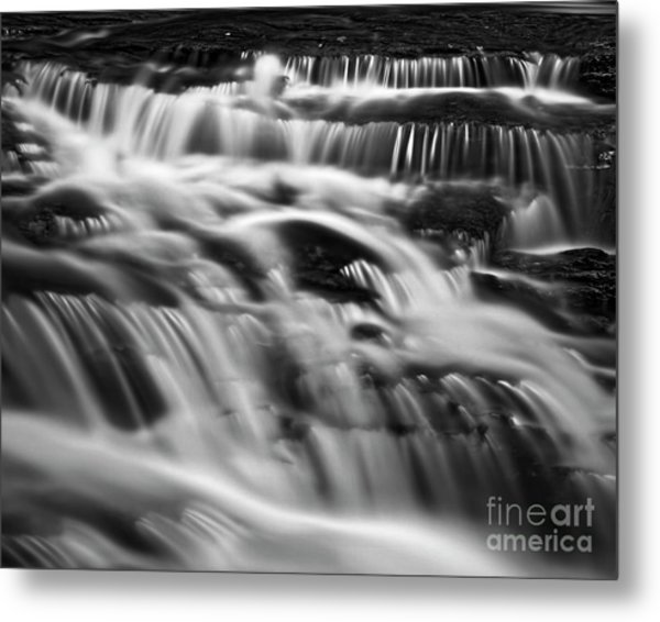 Metal Print featuring the photograph Cascade 5 Bw by Patrick M Lynch