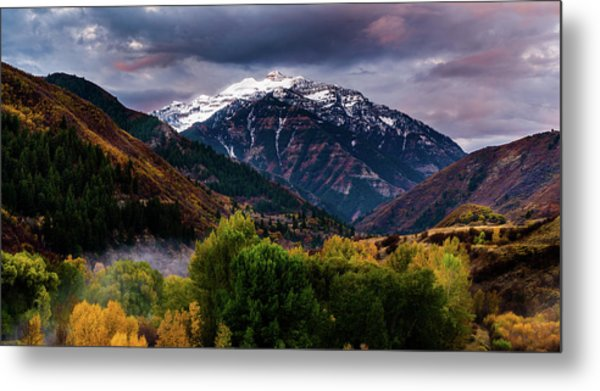 Metal Print featuring the photograph Cascade Mountain by TL Mair
