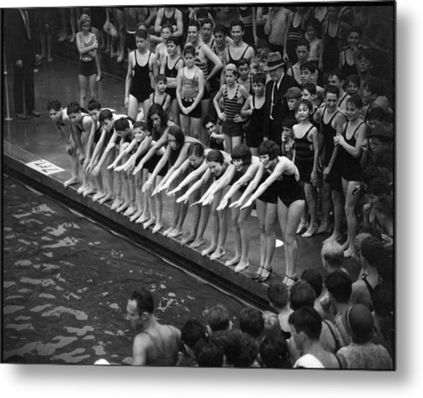 Cascades Pool, Jerome Ave. & 169th Metal Print by The New York Historical Society