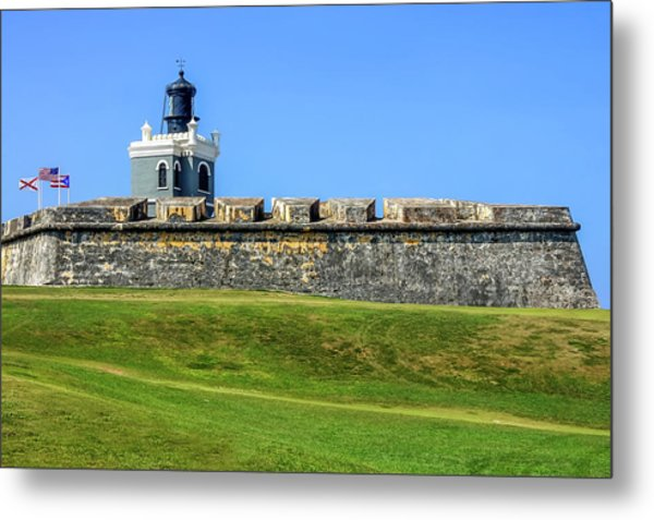 Metal Print featuring the photograph Castillo San Felipe Del Morro, Old San Juan, Puerto Rico by Dawn Richards