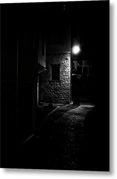 Alley In The Castle Of Ioannina Metal Print