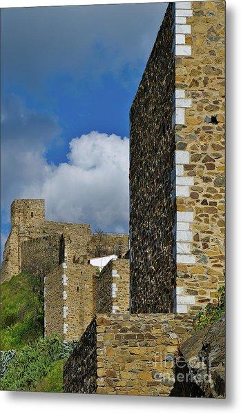 Castle Wall In Alentejo Portugal Metal Print
