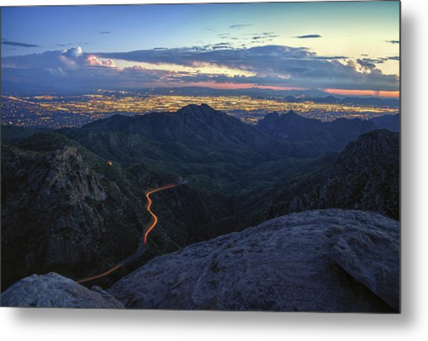 Metal Print featuring the photograph Catalina Highway And Tucson by Chance Kafka