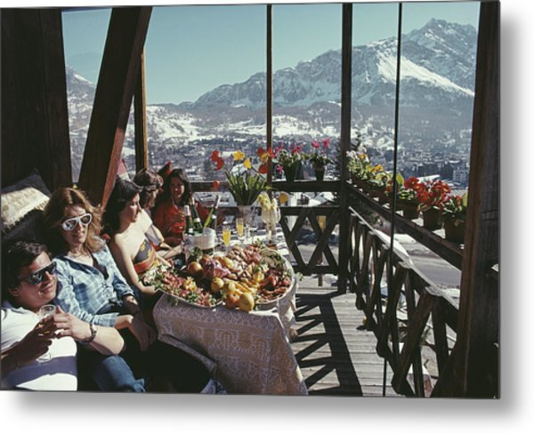 Catching The Sun In Cortina Metal Print by Slim Aarons