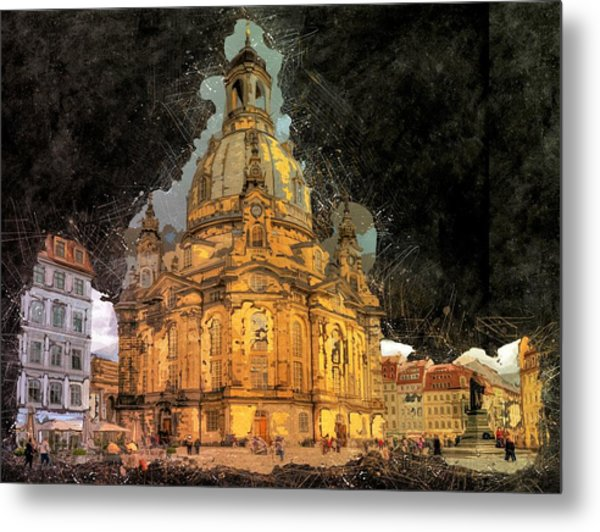 Cathedral, Dresden Metal Print