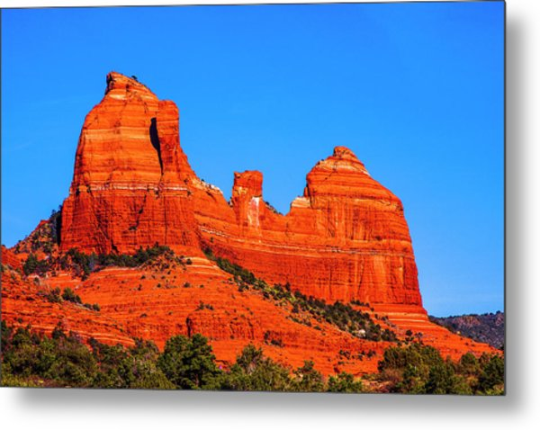 Cathedral Rock Metal Print by Fernando Margolles