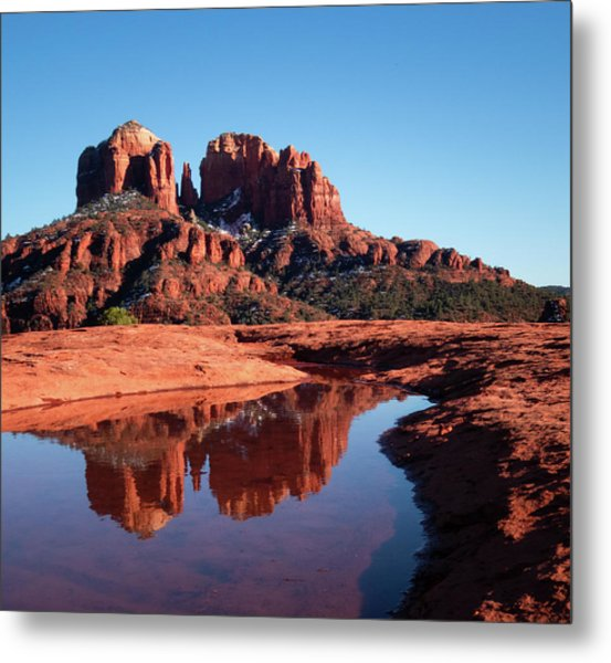 Cathedral Rock Reflection II Metal Print