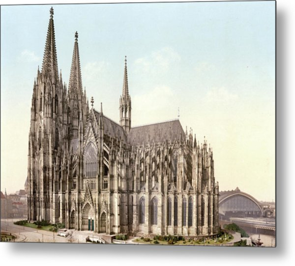 Cathedral, Side, Cologne, The Rhine Metal Print
