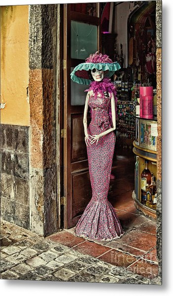 Metal Print featuring the photograph Catrina Welcomes You by Tatiana Travelways